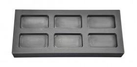 1 Troy Ounce Multi Cavity Silver Rectangular Graphite Ingot Mold