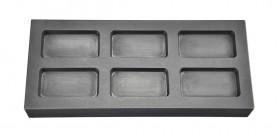 1/2 Troy Ounce Multi Cavity Silver Rectangular Graphite Ingot Mold