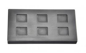 1/4 Troy Ounce Multi Cavity Silver Rectangular Graphite Ingot Mold