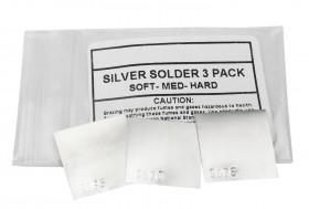 3 Piece Silver Solder Sheet - 1 DWT Each of Soft, Medium, and Hard