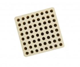 Honeycomb Ceramic Block Square w/ 64 Holes (4 mm Diameter)