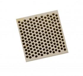 Honeycomb Ceramic Block Square w/ 168 Holes (2 mm Diameter)