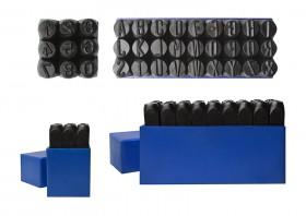 "9.5 mm - 3/8"" 36 Piece Steel Alphabet/Letter and Number Set"