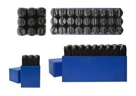 "12.5 mm / 1/2"" 36 Piece Steel Alphabet/Letter and Number Set"