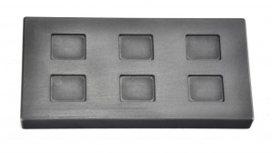 10 Gram Multi Cavity Silver Rectangular Graphite Ingot Mold
