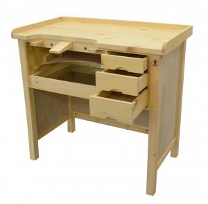 Deluxe Solid Wooden Jeweler's Workbench