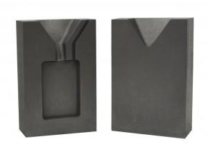 1 Troy Ounce Gold Rectangular Two Part Split Graphite Ingot Mold w/ Clamp