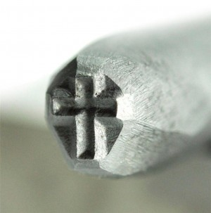 "3/16"" 5 mm Steel Cross Stamp"