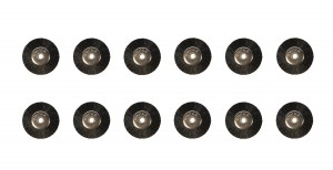 "12 Pack - SUPER 5/8"" UNMOUNTED BRUSHES, STIFF w/ 1/8"" HOLES"
