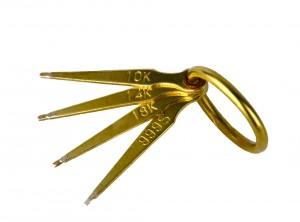 10K, 14K, 18K Gold .999 Silver Testing Needle Set