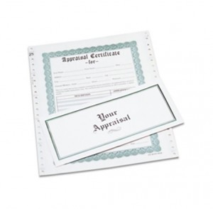 Box of 100 Appraisal Form/Certificates