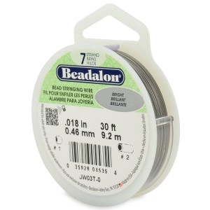 """30' Bright Beadalon 7 Wire - 0.18"""""""