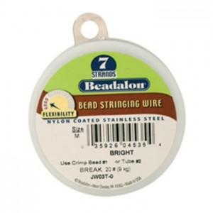 """100' Bright Beadalon 7 Wire - 0.12"""""""