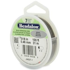 """100' Bright Beadalon 7 Wire - 0.18"""""""