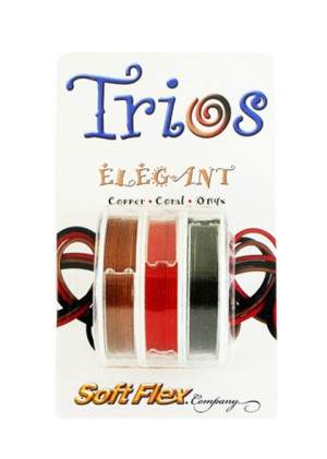 "Soft Flex Trio - Elegant: Copper, Coral, and Onyx 0.19"""