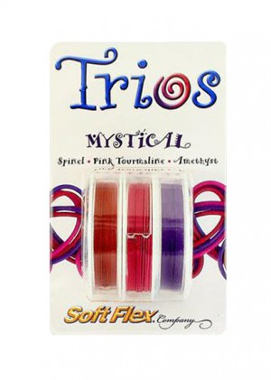 Soft Flex Trio - Mystical: Red Spinel, Pink Tourmaline, and Amethyst 0.19""