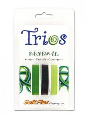"Soft Flex Trio - Renewal: Peridot, Emerald, and Chrysoprase 0.19"""