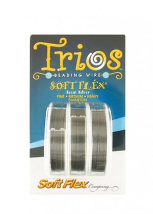 """Soft Flex Trio - Satin Silver 0.14"""", 0.19"""", and .024"""""""