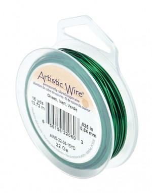 22 Gauge Green Artistic Wire Spool - 15 Yards