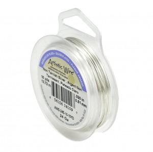 24 Gauge Non-Tarnish Silver Wire - 15 Yards