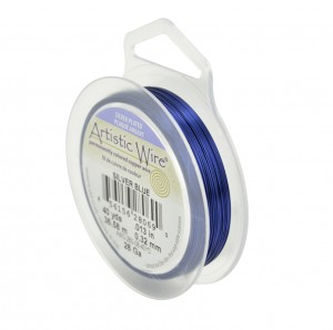 28 Gauge Blue Silver Wire - 40 Yards