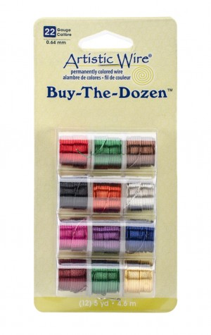 Pack of 12 Buy-The-Dozen Artistic Wire - 22 Gauge