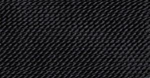 BLACK SILK BEAD CORD #12
