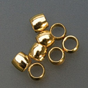 Pack of 144 Round Gold Bead Crimps - 2 mm