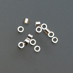 Pack of 100 Sterling Silver Tube Crimps - 1.5 mm x 2 mm