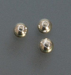 Pack of 100 Sterling Silver Seamed Beads - 4 mm