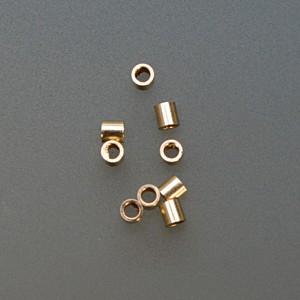 Pack of 100 Gold Filled Tube Crimps - 2 mm x 2 mm
