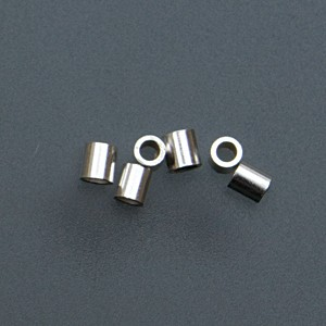 Pack of 100 Sterling Silver Tube Crimps - 2 mm x 2 mm