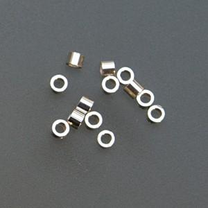 "Sterling Mini Tube Crimps - 1 mm x 0.38"""