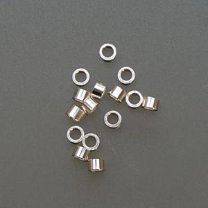 "Sterling Mini Tube Crimps - 1 mm x 0.51"""