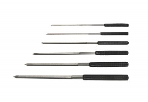 Set of 6 Cutting Broaches w/ Pouch - Sizes 2.4 - 6.2 mm