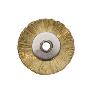 "1"" UNMOUNTED BRUSH, BRASS STRAIGHT, 3/32"" HOLE"