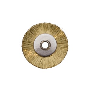 "3/4"" UNMOUNTED BRUSH, BRASS STRAIGHT, 1/8"" HOLE"