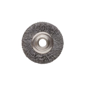 "3/4"" UNMOUNTED BRUSH, STEEL CRIMPED, 1/8"" HOLE"