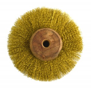 "Circular Brass Brush w/ 3"" Crimped Wires"