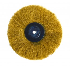 """Circular Brass Brush w/ 5"""" Crimped Wires"""