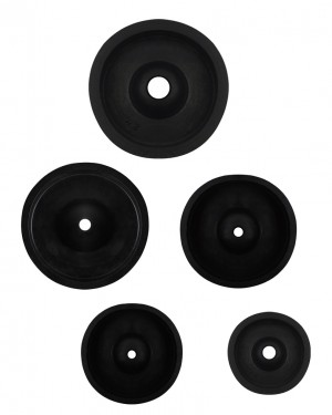 "Set of 5 Rubber Sprue Bases - ""C"" Style"