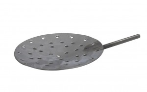 "6"" Diameter Stainless Steel Shallow Dish Skimmer w/ Holes"