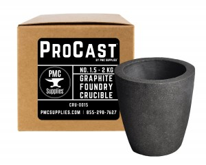 No 1.5 - 2 Kg Clay Graphite Foundry Crucible