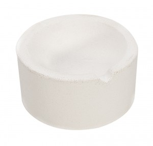 "12 oz 3"" Diameter Ceramic Alumina Crucible"