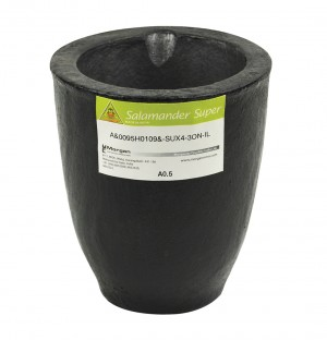 A0.5 - 1 Kg Salamander Super Clay Graphite Crucible