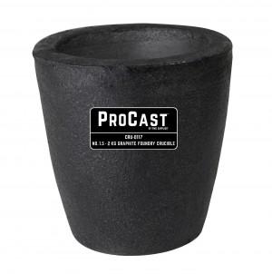 ProCast™ Premium Black No. 1.5 - 2 Kg Foundry Crucible