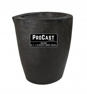 ProCast™ Premium Black No. 3 - 4 Kg Foundry Crucible
