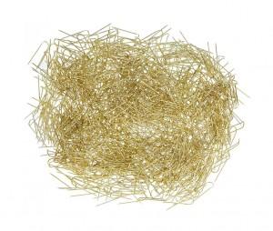 Box of 1,000 Jewelry Display Pins - Gold Tone