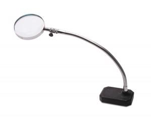 """2X Gooseneck Magnifier w/ 3-1/2"""" Lens"""