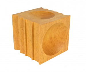 70 mm x 70 mm Wooden Forming and Dapping Block